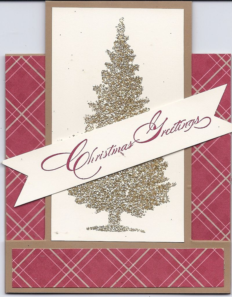 Special Christmas Stamp Set_Gold Stampin Glitter