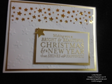 Confetti star punch_Christmas Card