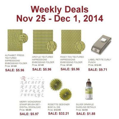 Nov 25 SU Specials