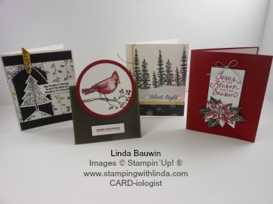 Christmas Card Club Linda Bauwin - CARD-iologist Helping you create cards from the heart