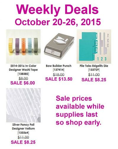 Weekly Deals Oct. 20 Linda Bauwin