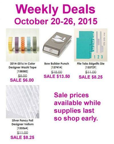 Weekly Deals Oct. 20 Linda Bauwin