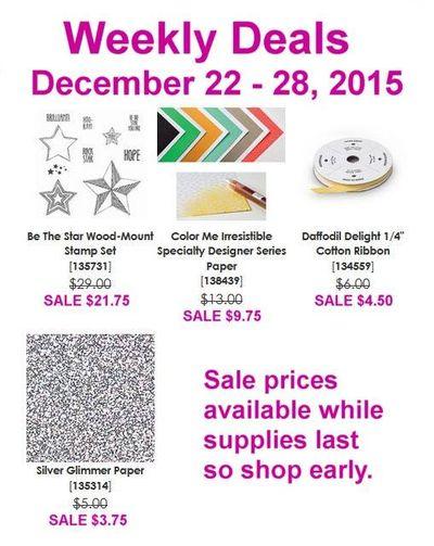 SU! Weekly Deals Linda Bauwin Dec. 23