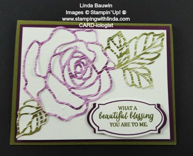 Rose Wonder Stamp Linda Bauwin