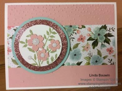 Birthday Bouquest Designer Paper Linda Bauwin