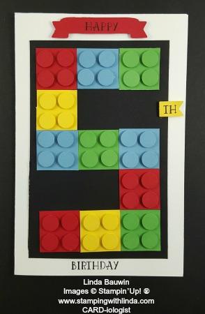 Lego Birthday Card Linda Bauwin