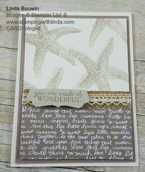 Star Fish Card Linda Bauwin