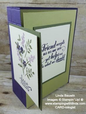 #doublefoldcard #creativefoldcard #lindabauwin