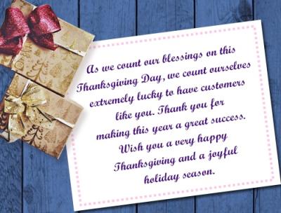 #thanksgivingcustomers #lindabauwin