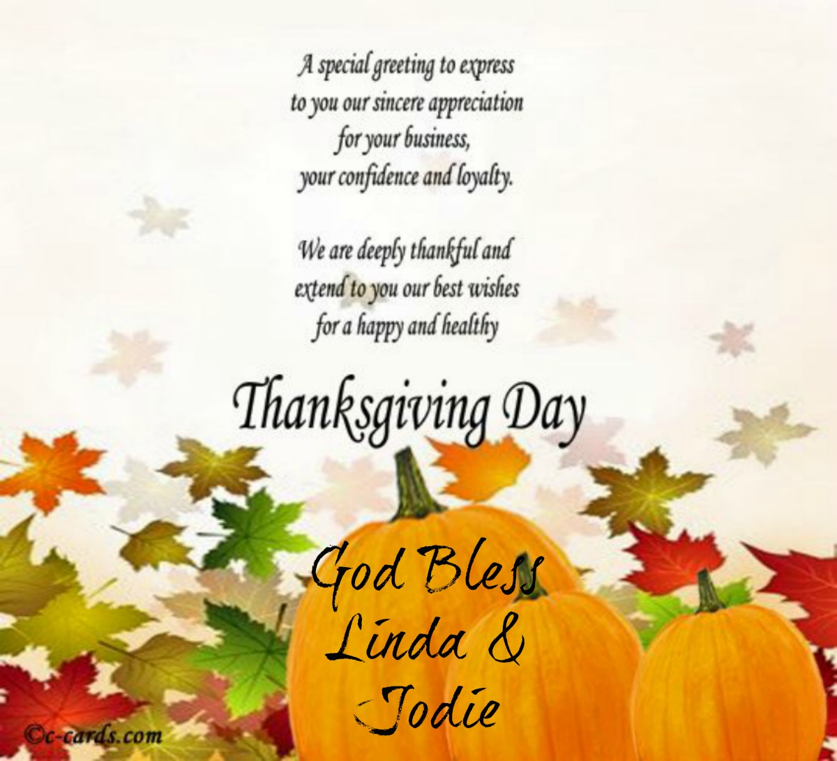 Happy Thanksgiving - STAMPING WITH LINDA