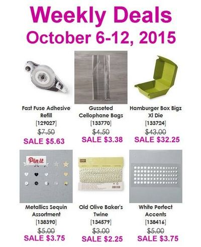 Oct. 6-12 Weekly Deals Linda Bauwin