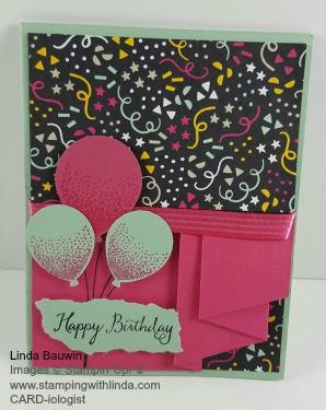 Pleated Ballon Card Linda Bauwin