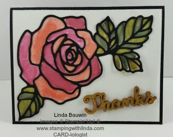 Vellum Rose Wonder Linda Bauwin