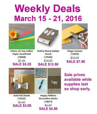 Weekly Deals MArch 112 Linda Bauwin