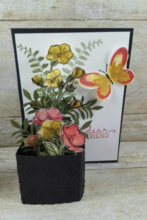 Woods Flower Pot Card