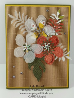 Botanical Blooms Stamp of the month Card 7 Linda Bauwin