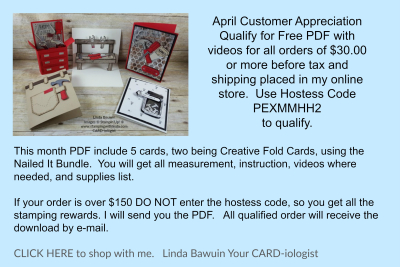 #aprilcustomerappreciation #lindabauwin