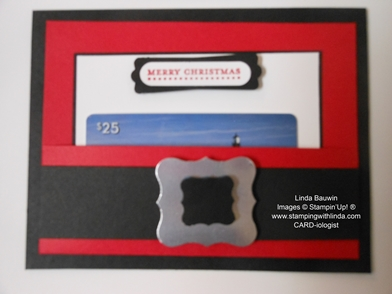Santa's Belt _Gift Card Holder_Linda Bauwin