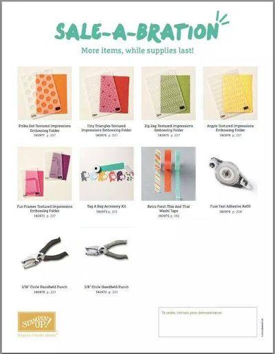 More items Sale-a-Bration_Linda Bauwin