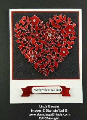 Red Foil Heart Linda Bauwin