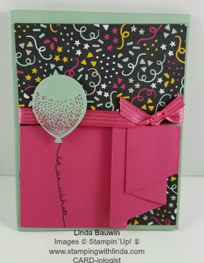 Pleated Birthday Card Linda Bauwin