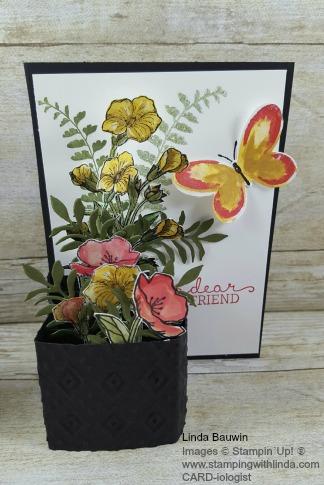 Flower Pot Card Linda Bauwin
