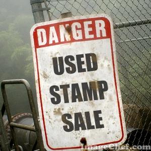 Danger Used Stamp Sale_Linda Bauwin