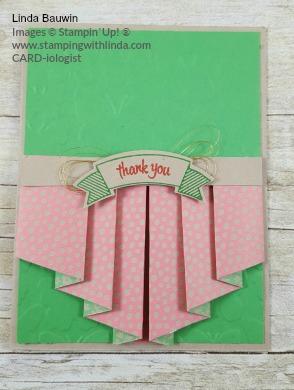 #pleatedcard #creativefold #lindabauwin