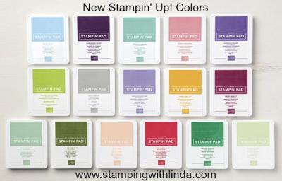 #newstampinupcoloredinkpads #lindabauwin
