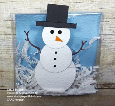 #snowmanbox #acetatesnowmanbox #lindabauwin