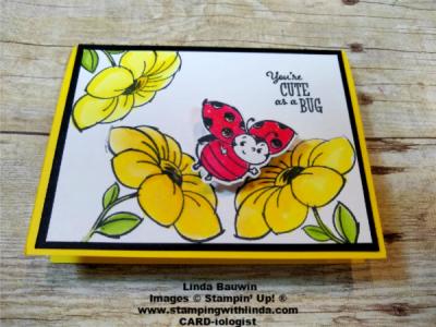 #ladybugwobblercard  #actioncard  #littleladybug  #lindabauwin