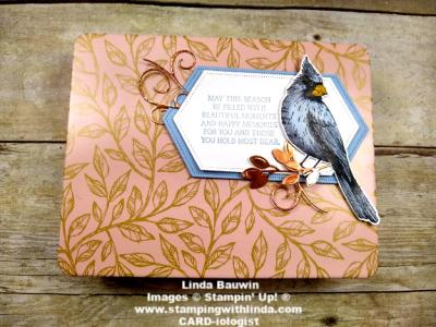 #birdballadlasercutcardbox  ##toileChristmasstampset  #lindabauwin
