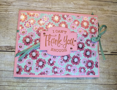 #creativefoldcard  #wfoldcard  #floweringfoilspecialtypaper  #lindabauwin