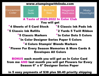 #2020-2022incolorclub  #littletaste  #lindabauwin  #stampingwithlinda.com