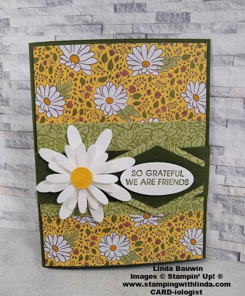 #funfoldcard  Ornategardenspecialtydesignerseriespaper  #lindabauwin