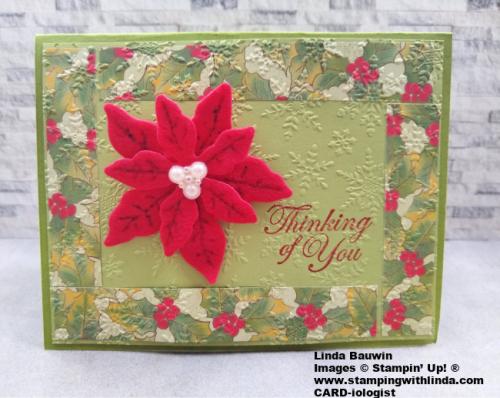 #festivefeltcard  #poinsettiapeetal  #lindabauwin