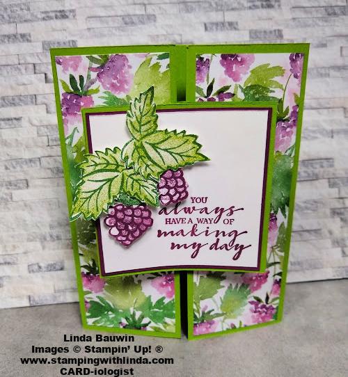#berryblessingstampset  #creativefold  #lindabauwin