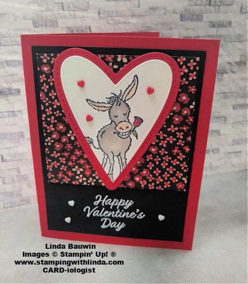 #darlingdonkey  #valentine'sdaycard.