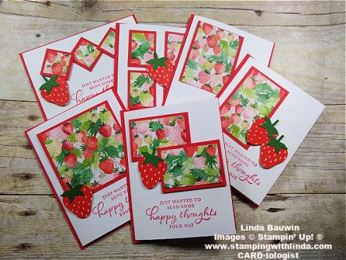 #berrydelightfuldesignerseriespaper  #strawberry  #onesheetwonder  #lindabauwin