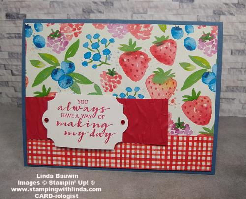 #berryblessingsstampset  #berrydelightfuldesignerserispaper  #lindabauwin