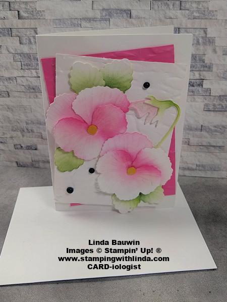 #birthdaycard  #pansycard  #lindabauwin