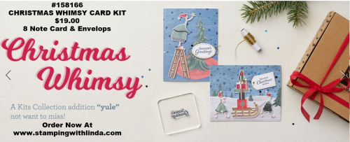#christmaswhimsycardkit #christmascards   #lindabauwin